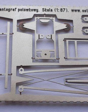 DH0-75 Statyczny pantograf połówkowy H0