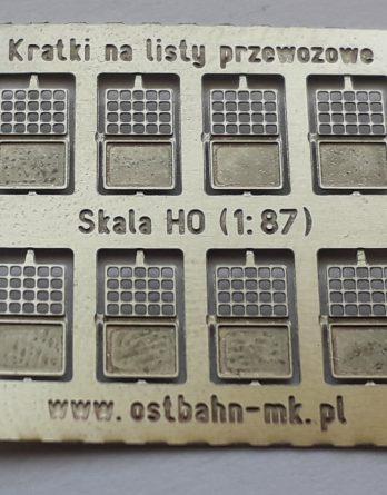 DH0-86 Ramki na listy przewozowe H0