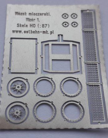 AH0-119 Wózek mleczarski ażurowy