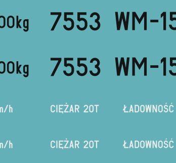 KH0-13 Kalkomania WM-15A H0