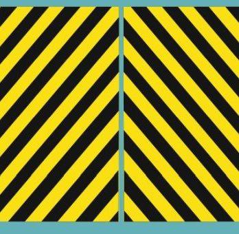 KH0-16 Kalkomania pasy bezpieczeństwa czarno-żółte