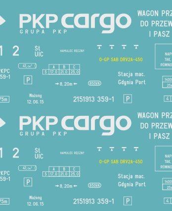 KH0-41 Kalkomania Ugpps PKP Cargo H0