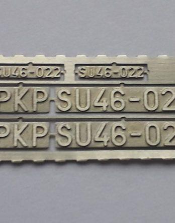 DTT-31 Tabliczki SU46 TT