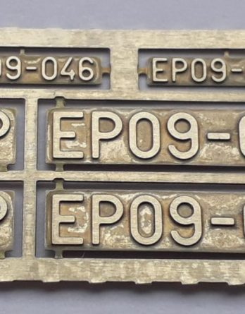 DH0-121 Tabliczki EP09 H0