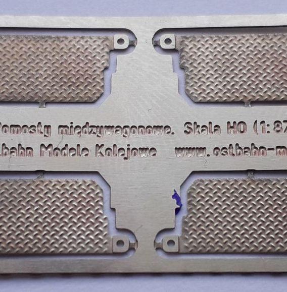 DH0-123 Pomosty międzywagonowe 4 sztuki H0