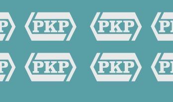 KH0-57 Kalkomania białe logo PKP