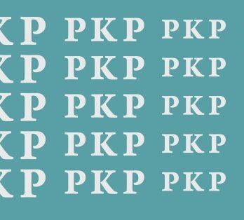 KH0-58 Kalkomania logo PKP stary krój liter